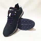 Мужские кроссовки из перфорированной кожи в стиле Puma, темно-синий, фото 2