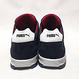 Мужские кроссовки из перфорированной кожи в стиле Puma, темно-синий, фото 7