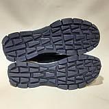 Мужские кроссовки из перфорированной кожи в стиле Puma, темно-синий, фото 8