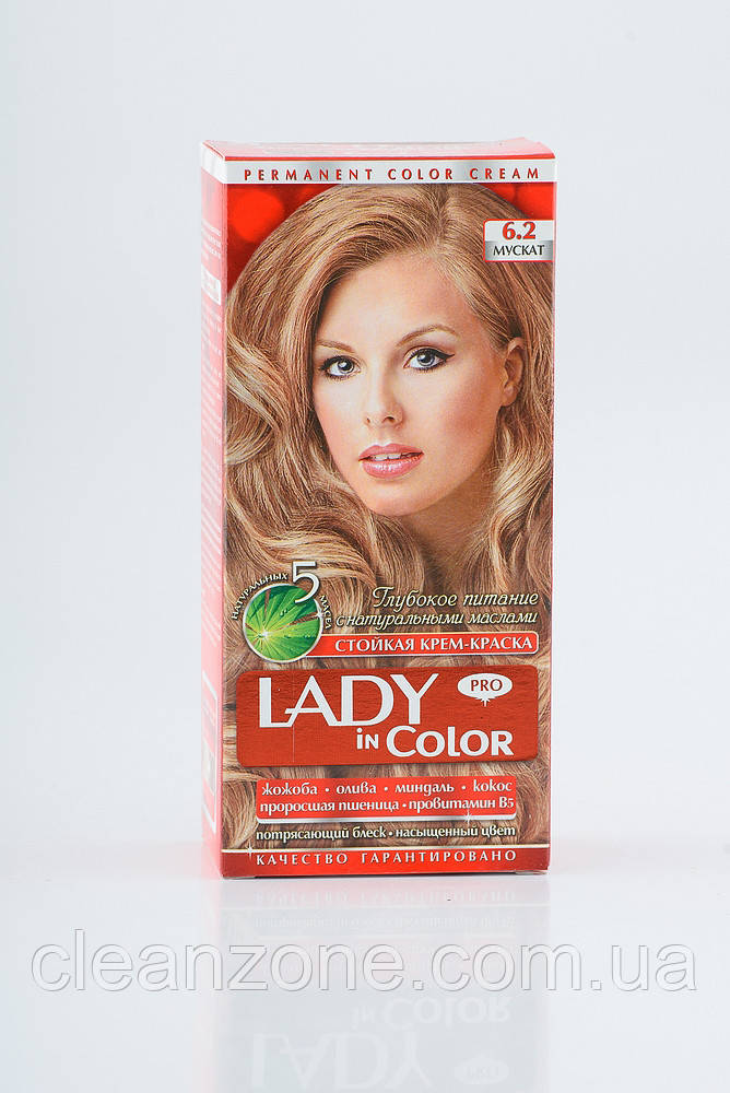 Lady in color фарба для волосся №6.2 Мускат