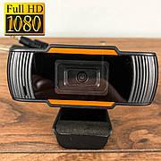Веб камера C12 с микрофоном для компьютера ПК ноутбука вебка usb web camera full hd 1920 x 1080 вебкамера
