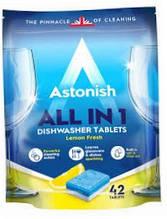 Таблетки Астониш  Все в одном для посудомоечных машин Astonish All-in-1 Dishwasher Tablets 42 шт