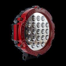 Светодиодная фара LED (ЛЕД) круглая 63W (21 лампа) red | VTR