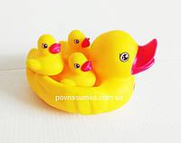 Резиновые уточки для купания,мама и утята,резиновые утки
