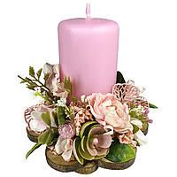 Великодня свічка декорована 12x12x13см