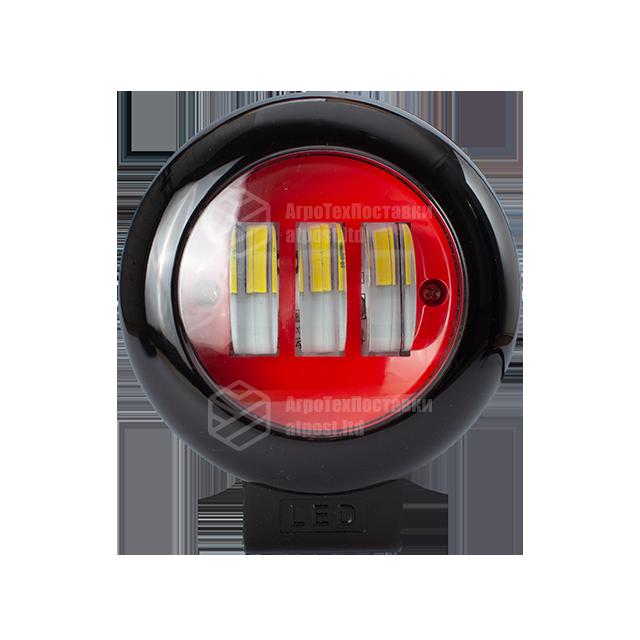 Світлодіодна фара LED (ЛІД) кругла 30W (3 діода) red   VTR