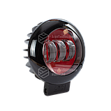 Світлодіодна фара LED (ЛІД) кругла 30W (3 діода) red   VTR, фото 3