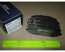 Колодка тормозная CHEVROLET AVEO безасбестовая (компл 4 шт) (пр-во ХЗТС)