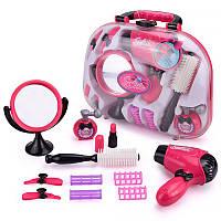 Игровой набор для девочек в чемодане Lesko BJ1305 Салон красоты КОД: 6232-20982