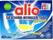 Бесфосфатные таблетки 12 в 1 для посудомоечных машин Alio Geschirr-Reiniger 12 in1 Tabs 40 шт
