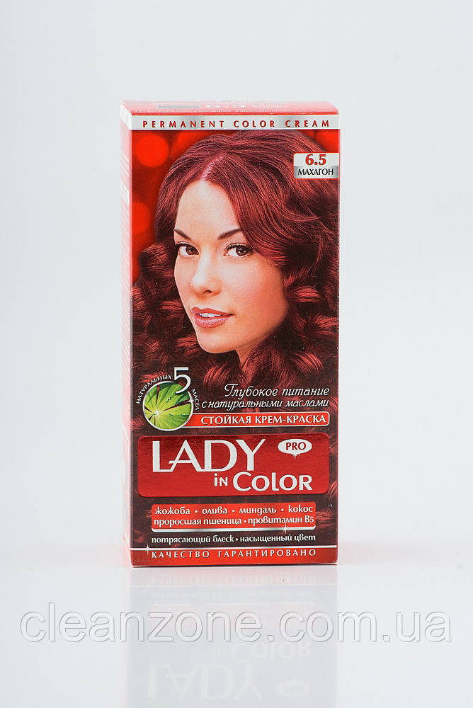 Lady in color фарба для волосся №6.5 Махагон