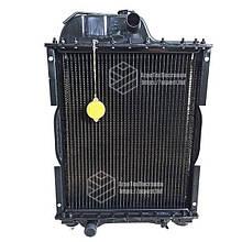 Радиатор водяной МТЗ-80 (медный) (4-х рядный) + крышка + аморт. х 2 шт (метал бачки) | VTR
