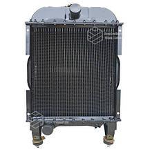 Радіатор водяний МТЗ-1221 (мід) (4-х рядний) + кришка + аморт. х 2 шт (метал бачки) | VTR