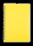 Блокнот А5 80л.GLOSS клітка, пружина збоку, пластик, фото 4