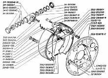 Циліндр гальмівний робочий ГАЗ 2705,3302,3110,2410 задній d12мм | RIDER