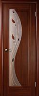 Эскада + стеклоР1 - Каштан - 80см. Коллекция МАЭСТРА. Межкомнатные двери Новый Стиль