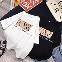 Жіноча стильна футболка з яскравим малюнком, фото 1
