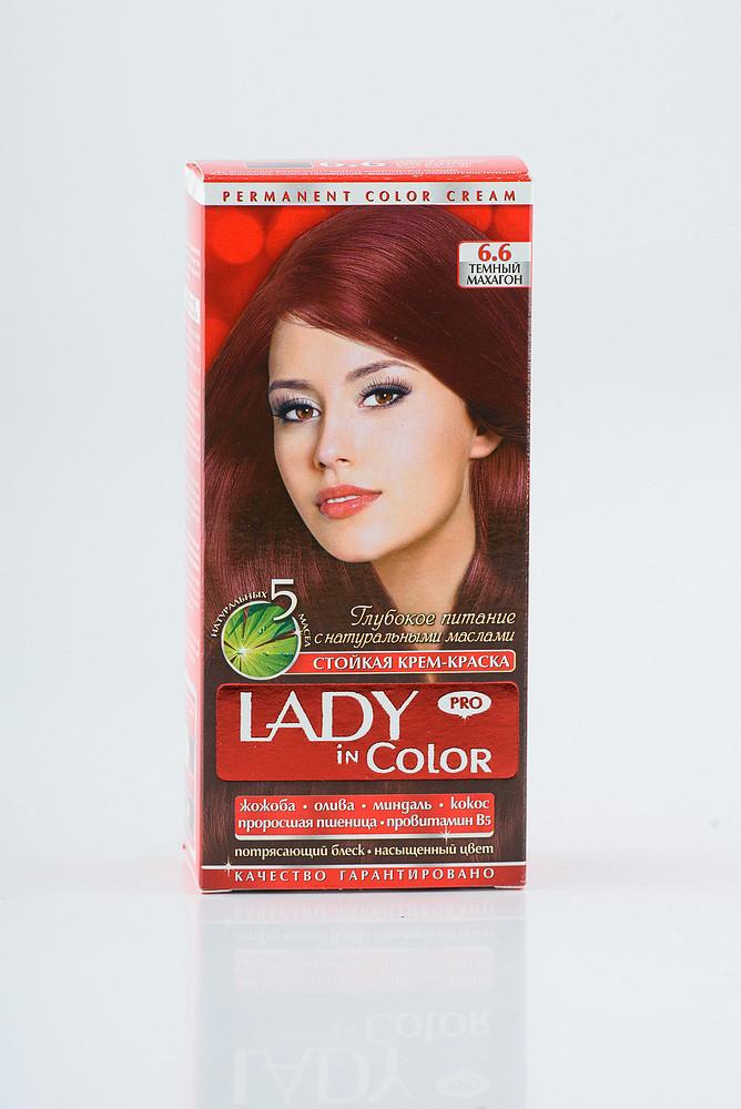 Lady in color фарба для волосся №6.6 Темний махагон