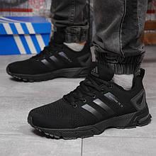 Кроссовки подростковые черные сетка в стиле adidas marathon tr 26