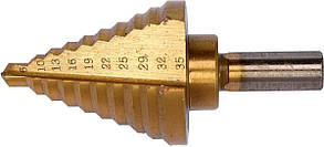 Сверло по металлу конусное ступенчатое YATO HSS 4241 6-35 мм 75/45 мм YT-44739