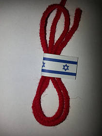 Оберег - Красная нить от сглаза -Израильская, Шерстяная