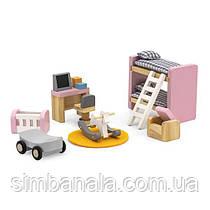 Деревянная мебель для кукол Viga Toys PolarB Детская комната (44036)