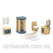 Деревянная мебель для кукол Viga Toys PolarB Ванная комната (44039)