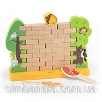 Дерев'яна настільна гра Viga Toys Стіна з цеглинок (44566)