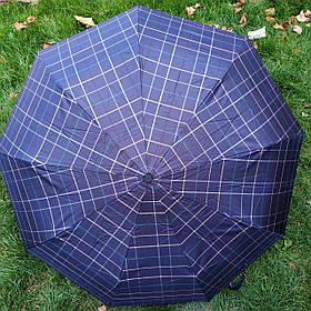 Зонт мужской синий в клеточку Star Rain арт.308p