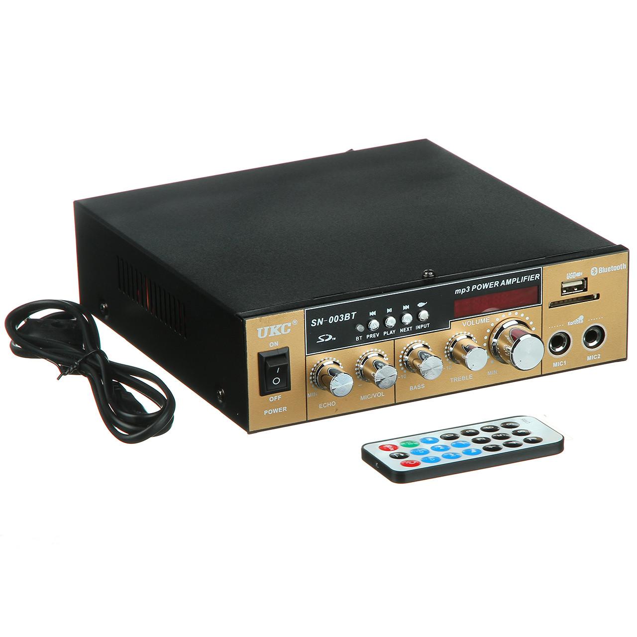 Усилитель звука интегральный UKC AMP SN 003 BT звуковой для колонок