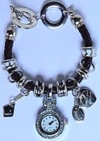 Часы-браслет Pandora черные с серебристым