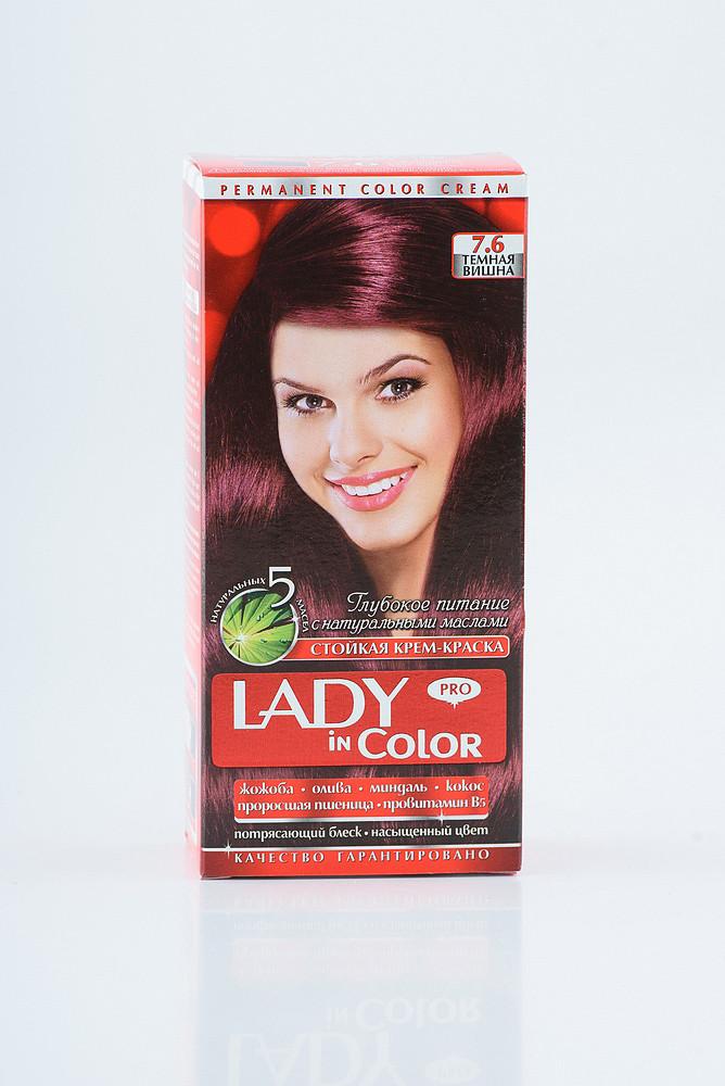 Lady in color фарба для волосся №7.6 Темна вишня