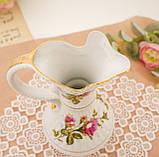 Вінтажний фарфоровий глечик, фарфор з трояндами, Chodziez, Польща, прованс, фото 3