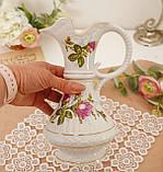 Вінтажний фарфоровий глечик, фарфор з трояндами, Chodziez, Польща, прованс, фото 7