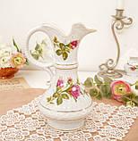 Вінтажний фарфоровий глечик, фарфор з трояндами, Chodziez, Польща, прованс, фото 4