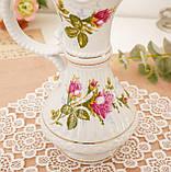 Вінтажний фарфоровий глечик, фарфор з трояндами, Chodziez, Польща, прованс, фото 5