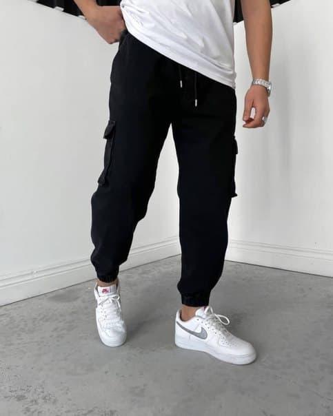 Мужские плотные джинсы на манжетах Турция (два цвета)