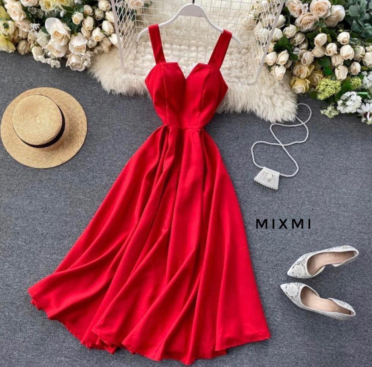 Женское платье, супер - софт, р-р 42-44; 44-46 (красный)