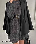 Женское платье, турецкий шифон, р-р 42-44; 44-46 (чёрный), фото 2