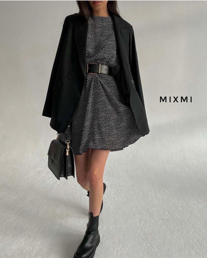 Женское платье, турецкий шифон, р-р 42-44; 44-46 (чёрный)