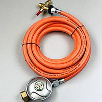 """Газовий шланг 5м MASTER BLP15 BLP17 з редуктором 0,7 бар гайка 1/4""""-3/8"""" для газової гармати, фото 1"""