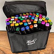 Скетч маркеры Touch 60 шт набор маркеров фломастеры для скетчинга 60 цветов набор двусторонних скетч маркеров
