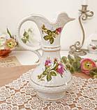 Вінтажний фарфоровий глечик, фарфор з трояндами, Chodziez, Польща, прованс, фото 9