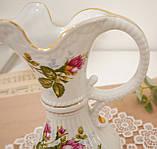 Вінтажний фарфоровий глечик, фарфор з трояндами, Chodziez, Польща, прованс, фото 10