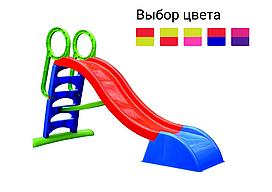 Дитяча ігрова гірка пластикова Mochtoys 180 см зі сходами і підключенням води (гірка спуск) Червоно-синій