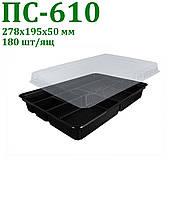 Блистерная одноразовая упаковка для суши и роллов ПС-610 дч