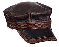 Модель №266 Кожаная кепка-немка, фото 1
