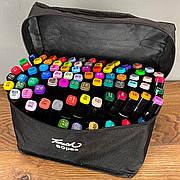Скетч маркеры Touch 80 шт набор маркеров фломастеры для скетчинга 80 цветов набор двусторонних скетч маркеров
