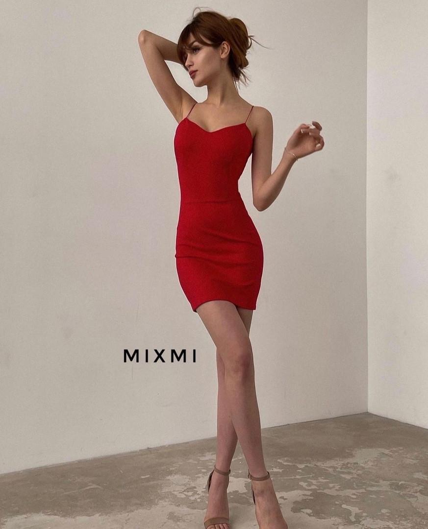 Женское платье, креп - дайвинг, р-р 42-44; 44-46 (красный)