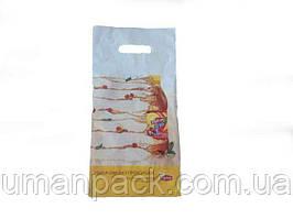 Пакет с прорезной ручкой тип банан(19*39+3) Липтон (50 шт)Полиэтиленовые пакеты сумки кульки  сайт